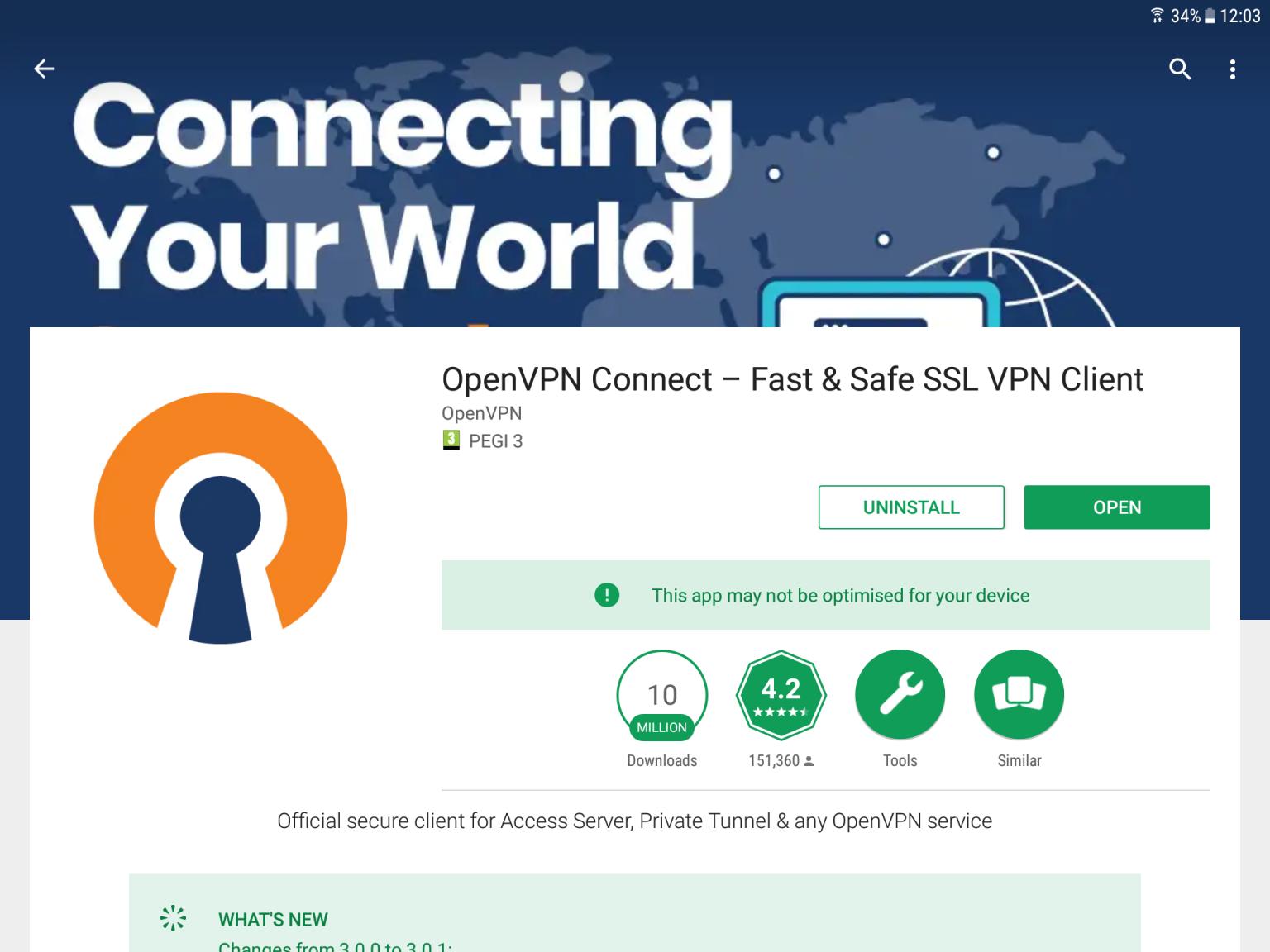 OpenVPN Connect – Fast & Safe SSL VPN Client