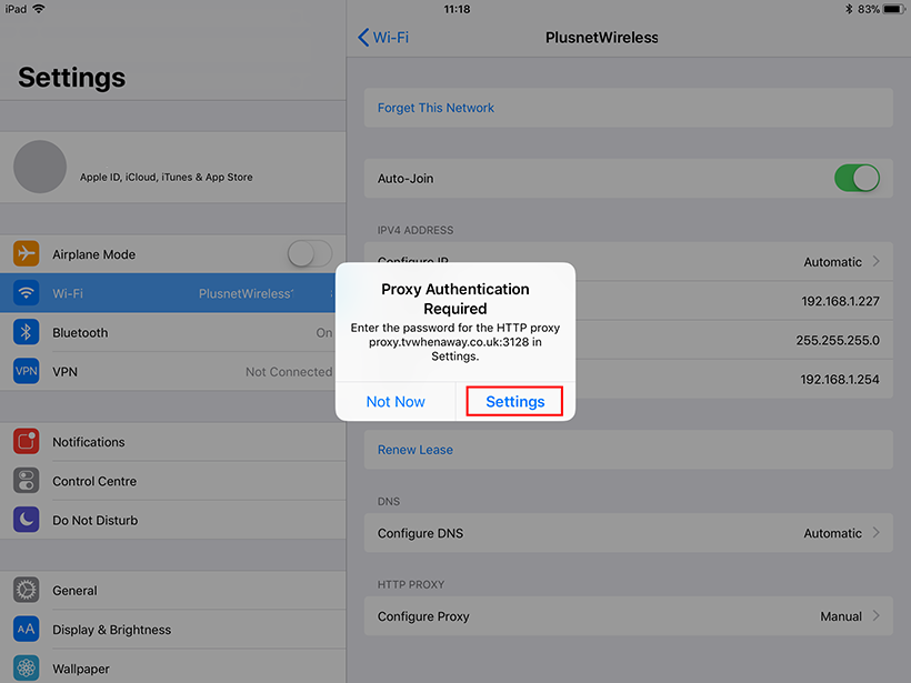 iPad Proxy Guide | TV When Away